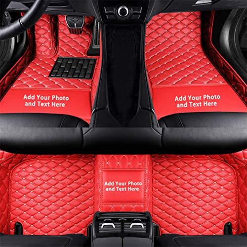 Alfombrillas Coche Personalizadas para Astra Adam Astra H Mocha Grandland x Corsa d Corsa Insignia 3D Protección Alfombras Antideslizante de Cuero Accesorios Coche Rojo 1 Juego