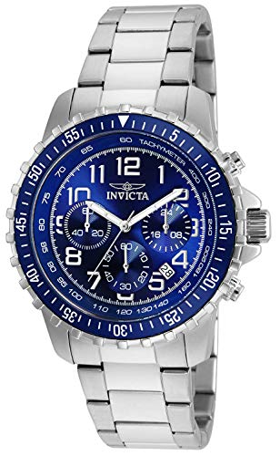 Invicta Men's Specialty 45mm Stainless Steel Chronograph Quartz Watch, Blue (Model: 6621)