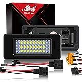 WinPower LED Luci targa per auto Lampada targa 3582 SMD con CanBus nessun errore 6000K Xeno Bianco freddo per A1/A3/A4/A5/A6/A7/Q3/Q5/TT ecc, 2 Pezzi