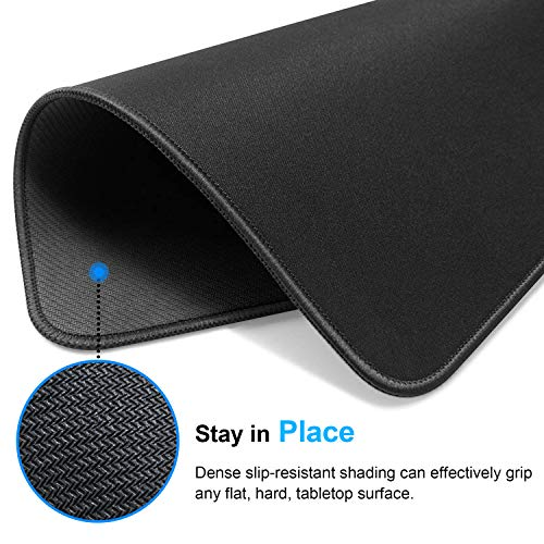 MROCO Mouse Pad [30% Larger] with Non-Slip Rubber Base, Premium-Textured & Waterproof Computer Mousepad with Stitched Edges, Mouse Pads for Computers, Laptop, Gaming, Office & Home, 8.5 x 11 in, Black Photo #7