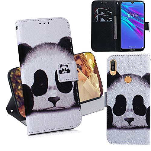 DodoBuy Huawei Y6 2019/Honor 8A/Y6s Hülle Flip PU Leder Schutzhülle Handy Tasche Hülle Cover Wallet Standfunktion mit Kartenfächer Magnetverschluss für Huawei Y6 2019/Honor 8A/Y6s - Panda