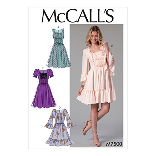 McCall's Patterns 7500 E5, Robes, Tailles 14–22, Multi/Couleur