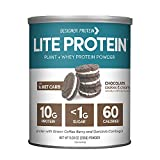Designer Protein LITE, Low Calorie Natural Protein, Chocolate Cookies and Cream, 9.03 Ounce, Made in the USA