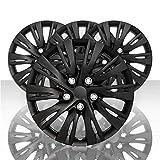 Auto Reflections Set of 4 15' 10 Split Spoke Wheel Covers - Gloss Black