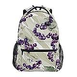 Mochila de arándanos con estampado de frutas y arándanos de gran capacidad, mochila informal para colegio, viajes, senderismo, mochila para mujeres y hombres