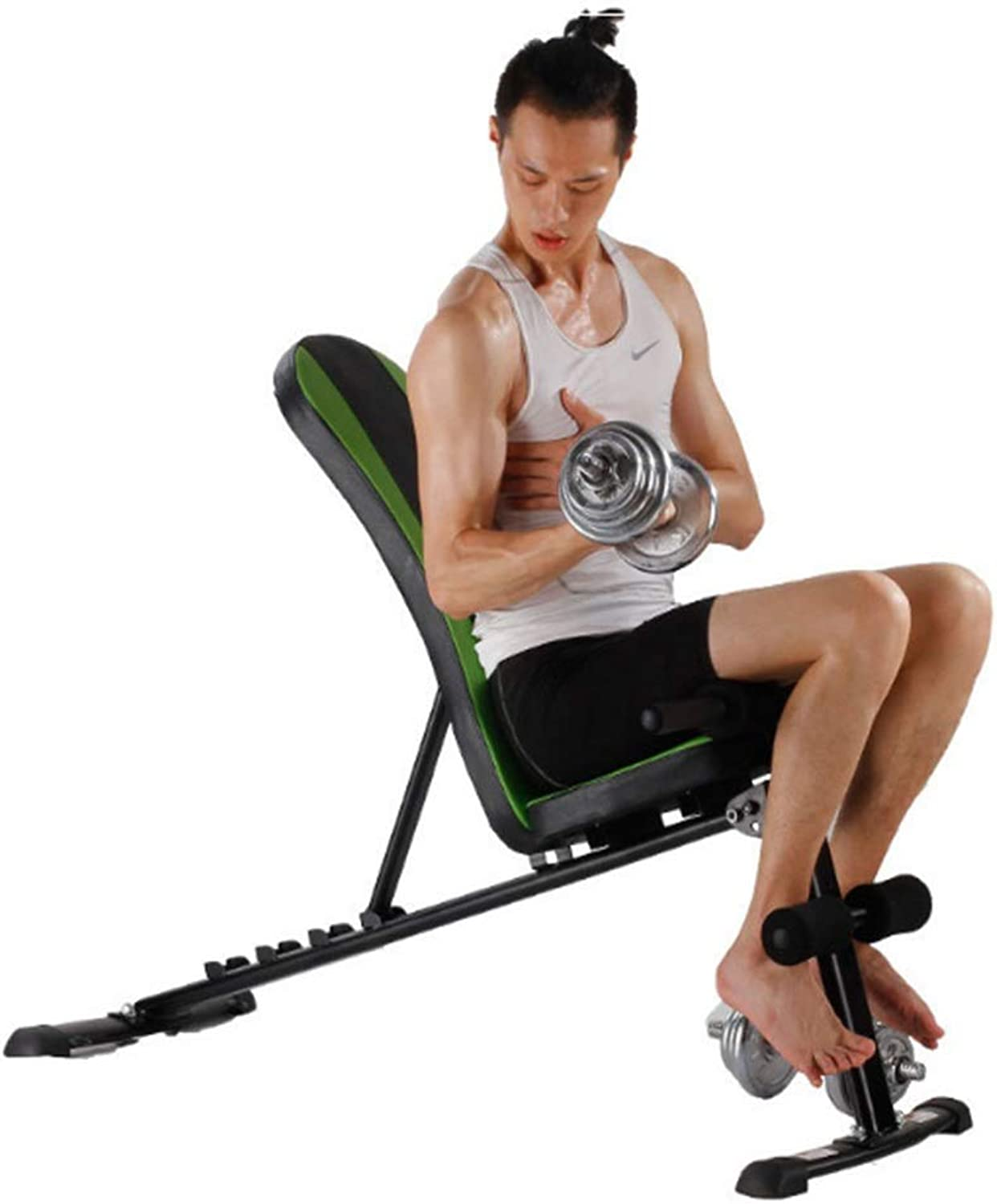 Adjustable ArcShaped Multifunctional Supine Board Home Fitness Equipment Dumbbell Bench Men's Fitness Chair Abdominal Device Board Exercise Fitness Workout