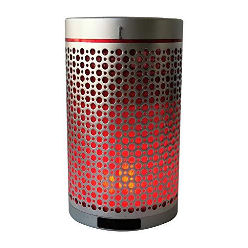Yusell Tragbare drahtlose Flamme Lautsprecher Lampe romantische Lautsprecher Schallwelle entfesseln Ihre