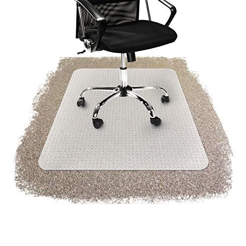 Floordirekt Bodenschutzmatten aus PP-Kunststoff für Teppiche, erhältlich in 5Größen, plastik, durchsichtig, 90 cm x 120 cm