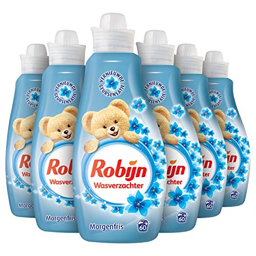 Robijn Morgenfris Wasverzachter 6 x 60 wasbeurten - 6 x 1,5 L Voordeelverpakking