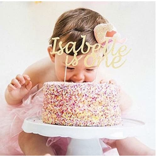 Custom Name And Age Birthday Cake Topper Decoration Any Glitter ColourParty First Party