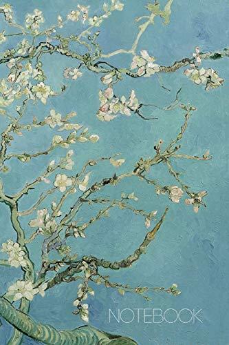 Notebook: Vincent Van Gogh Music Sheet Book Blossoming Almond Tree Notebook Fine Art Impressionism Painting Almond Blossom 120 pages Music Sheet