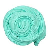 Tichan ふわふわスライムのための女の子のおもちゃ、スライム用品用子供アートクラフト、魔法粘土スライム、スクイズストレスリリーフ玩具、安全で無毒 (緑)