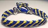 Bracelet corde Mary's Terrace aux couleurs de l'équipe de rugby ASM Clermont Auvergne, Leinster