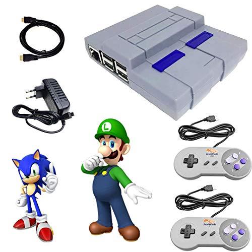 Console Super Nintendo Raspberry SNES + 10.000 Jogos 2 Controle SNES + Cabo HDM