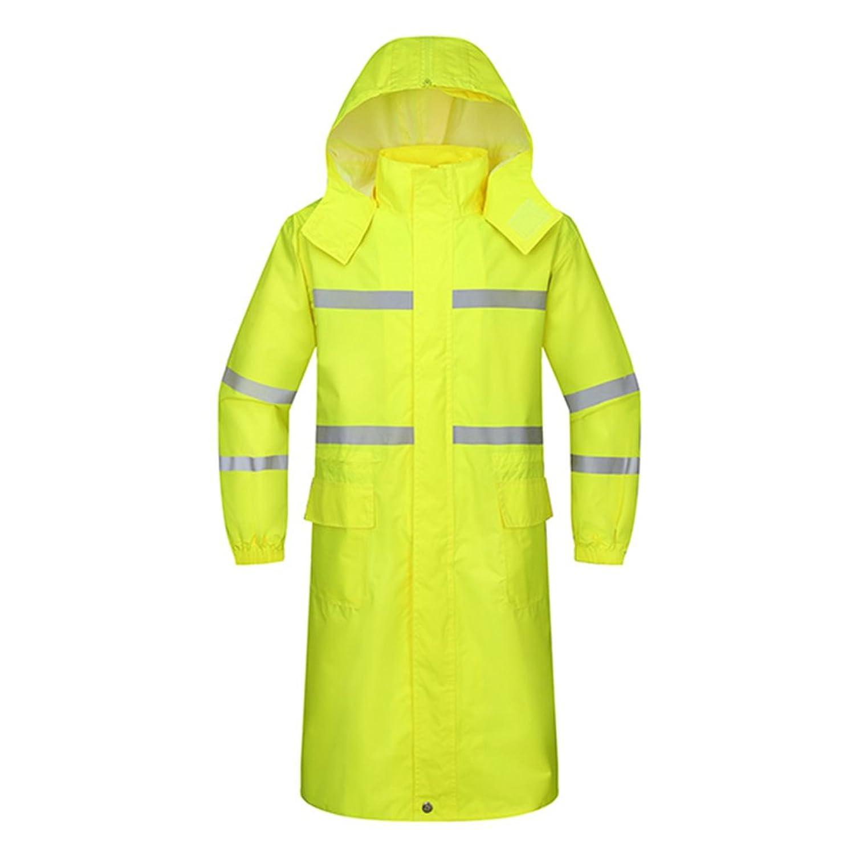 ZEMIN ポンチョ レインウェア レインコート ポンチョ ウインドブレーカー 防水 カバー 屋外 安全性 ポリエステル、 蛍光黄色、 5サイズあり (サイズ さいず : XL)