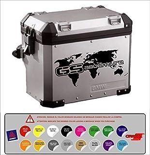 Pegatina Adhesivo Maleta Compatible con BMW R 1200 1150 1100 800 GS Aventure Mapa Mundi Troquelado 16 Colores Disponibles Kit 2 Unidades