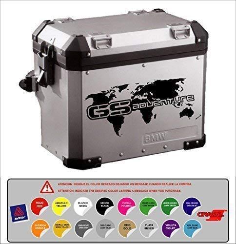 Sticker Adesivo Porta Compatibile con BMW R 1200 1150 1100 800 GS Adventure Mappa Rilievo 16 Colori Disponibili Kit 2 Unità
