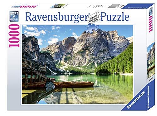 Ravensburger, Puzzle 1000 Pezzi, Lago di Braies - Dolomiti, Puzzle per Adulti, Linea Foto & Paesaggi, Relax, Stampa di Alta Qualità, Dimensioni 70x50 cm