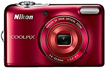 Nikon COOLPIX L30 20.1 MP Digital Camera with 5x Zoom NIKKOR Lens and 720p HD Video (Red) (Discontinued by Manufacturer)