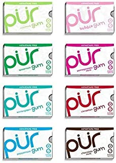PUR 100% Xylitol Chewing Gum, Sugarless Variety Bulk, Sugar free & Aspartame Free, Keto Friendly Gift - Gourmet Gum, Relie...