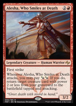Magic The Gathering - Alesha, Who Smiles at Death (090/185) - Fate Reforged