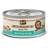 Merrick Grain Free Limited Ingredient Diet Real Meat Adult Wet Cat Food Duck (24) 5oz cans