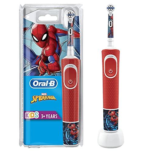 Oral-B Kids Spazzolino Elettrico Ricaricabile, 1 Manico con Personaggi Disney Spider-Man, dai 3 Anni...
