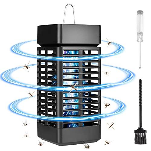 Czemo Mata Mosquitos Electrico Lámpara Mosquito Electrico UV Trampa de Insectos con Cepillo de Limpieza/Destornillador Matar Mosquitos, Polillas y mas Insectoscon Área de Acción - 60 m²