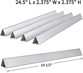 SHINESTAR 7540-24.5 inch Grill Parts Replacement for Weber Genesis 300 310 E310 320 Flavorizer Bars (with Side Control Panel), Set of 5 Stainless Steel Flavor Bars (SS-WB003)