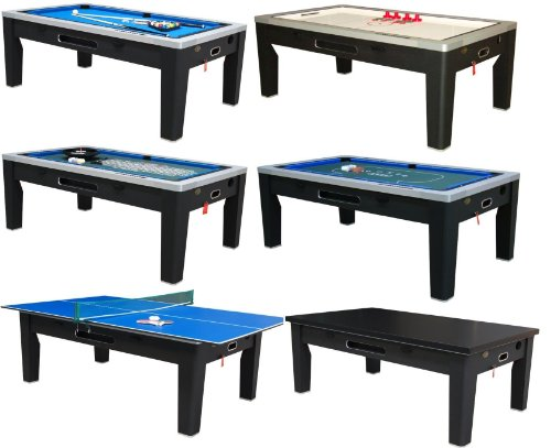 Buy Berner Billiards 6 in 1 Multi Game Table Finish: Black