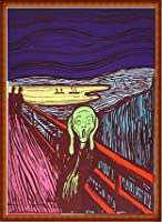 ポスター アンディ ウォーホル Sunday B Morning The Scream (After Munch) 限定1500枚 証明書付 額装品 ウッドハイグレードフレーム(ナチュラル)
