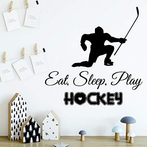 wZUN Hockey Muster Dekoration Aufkleber wasserdicht Heimdekoration Kinderzimmer Dekoration Wandtattoo 58x58cm