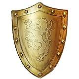 QININQ Escudo Escultura, Placa de Pared con Escudo Medieval Europeo Retro de la Antigua Roma, heráldica de Cresta del Rey de 24 Pulgadas de Alto, Escudo de Placa de Pared de Metal Colgante