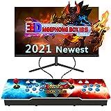 MEEPHONG Pandora Box 18s 3D WiFi Game Console, Home Retro Multijugador Arcade Console 4500 Juego Todo en Uno (160 Juegos En 3D),Maquina Arcade Console Equipped with Dual Joysticks and 6 Buttons.