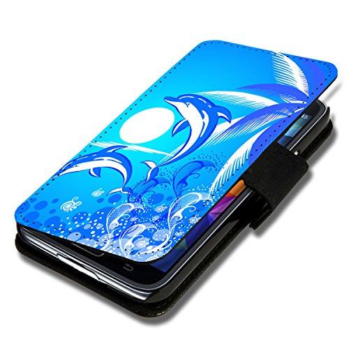 sw-mobile-shop Book Style Flip Handy Tasche Case Schutz Hülle Schale Motiv Etui für HTC One M7 - Flip 1X10 Design1