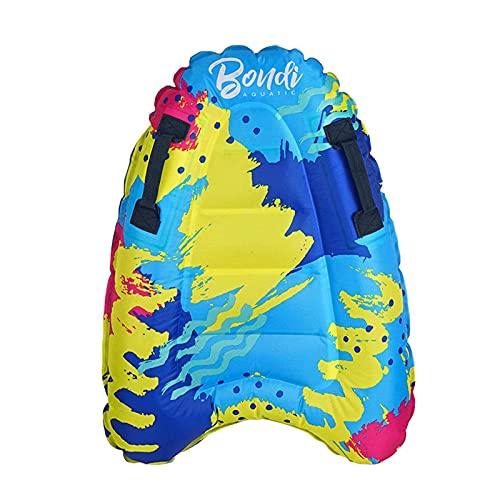 Denpetec - Tablas de surf inflables para playa portátil con asas, tablas de surf ligeras y suaves, tablas de surf para niños, tablas de flotar, tablas de natación (coloridas)