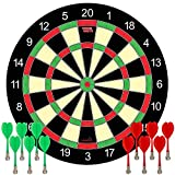 Funsparks Magnetic Dart Board Game - 12 Darts - 6 Green and 6 Red Darts – Best Kids Toy Gift Indoor Outdoor...