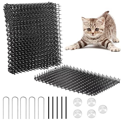 FORMIZON Pinchos Anti Gatos, Cat Scat Mat Anti-Gatos Tiras de Espigas para Animales de Mascotas, Alfombrilla para Gato con Pinchos Repelente para Disuasión Mat para Proteger Las Plantas, Jardin