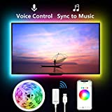 Smart Led Strip Lights for TV, Gosund 9.2Ft TV Led Backlight Music Sync for 32-60 inch. Works with Alexa Google Home, App Remote Control, 16 Million Colors, Brighter 5050 LED, USB Powered, Only 2.4Ghz