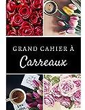 GRAND CAHIER A CARREAUX: 100 pages | Adultes, enfants et étudiants | Beau cadeau