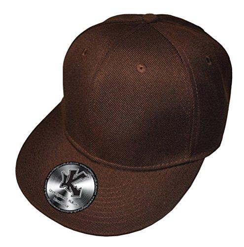 UNDERGROUND KULTURE Casquette de Baseball Réglable Tout Marron (Plain Brown Snapback)