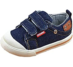 Niños Zapatillas Pantalones Vaqueros Lona niños Zapatos Denim Running Sport bebé Zapatillas Zapatos para niñas Chicos: Amazon.es: Zapatos y complementos