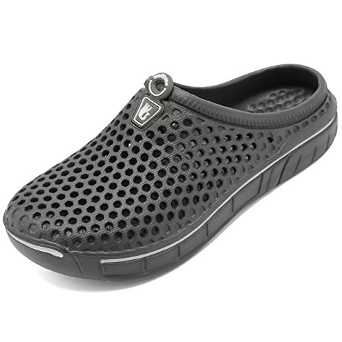 welltree Unisex Women's Men's Garden Clog Shoes Quick Drying Slippers Sandals 9 Men / 11 Women Grey-2/43