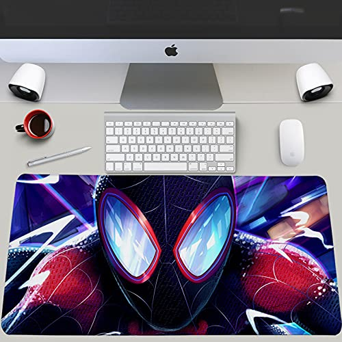 CoolTreasure Amazing Spider-Man Mouse Pad Game Antideslizante de Gran tamaño computadora portátil Marvel Hero Teclado Alfombrilla de escritorio-Package05  800x300x3mm