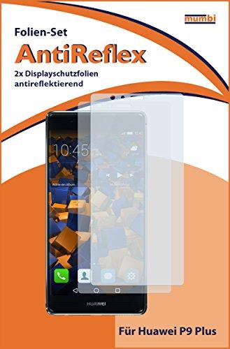 mumbi Schutzfolie kompatibel mit Huawei P9 Plus Folie matt, Displayschutzfolie (2X) - 2