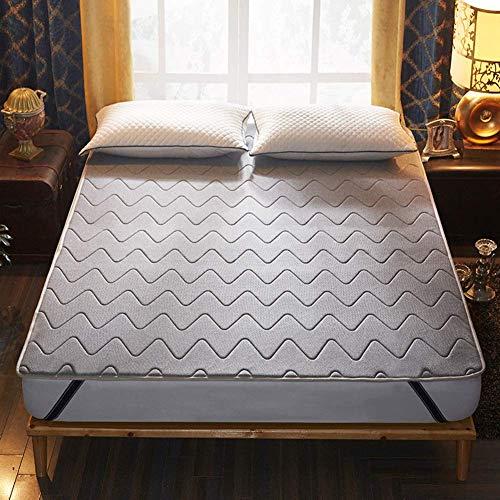 ZXYY Anti-slip matras topper dunne matrasbeschermer Matrastopper zeer koel ForSummer-grijs 150x190cm (59x75inch)