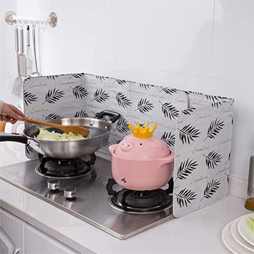 BSTCAR Küchen Spritzschutz, Spritzschutz für Herd,Spritzschutz Pfannen Antihaft Faltbarer Ölspritzerschutz Spritzwassergeschützter Gasherdschutz für Küchenzubehör