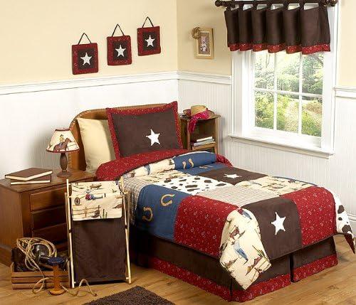 supreme Wild West Cowboy Detroit Mall Western Children's Full Set Queen Bedding 3pc