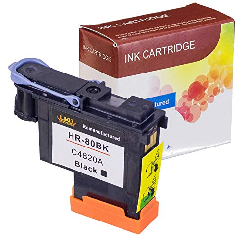Price comparison product image LKB Remanufactured HP80 Printhead C4820A with New Updated Chips Black Color Replacement for HP DesignJet 1050c 1050c Plus 1055C 1055cm 1055cm Plus (1BK) 1PK-US