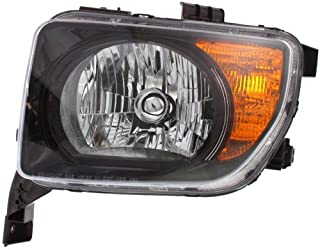 Headlight Lens and Housing Compatible with 2007-2008 Honda Element EX/LX Models Driver Side